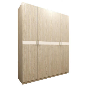 Modern Light Wenge Wooden 4 Door Amoires & Wardrobes